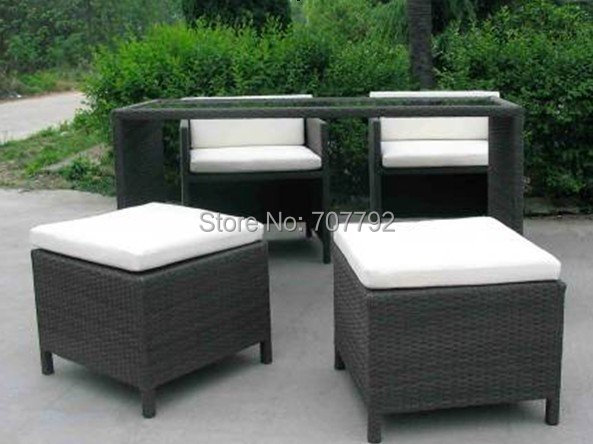 Popular synthetic rattan patio furniture buy cheap Synthetic wood patio furniture