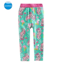 JUXINSU Cotton Toddler My Baby Girl Long Pants Leggings Little Pony Casual for Spring Summer 1-7 Years