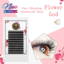 BRILLANT Easy Fan Auto Volume Mega Bloom False Eyelashes Thick Natural Soft Blossom Grafting Eyelash 0.07 Coarse