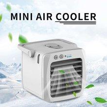 Портативный мини-вентилятор для кондиционера, настольный usb-вентилятор, кулер для воздуха, увлажнитель для охлаждения, бесшумный, для личного пространства, для офиса, дома