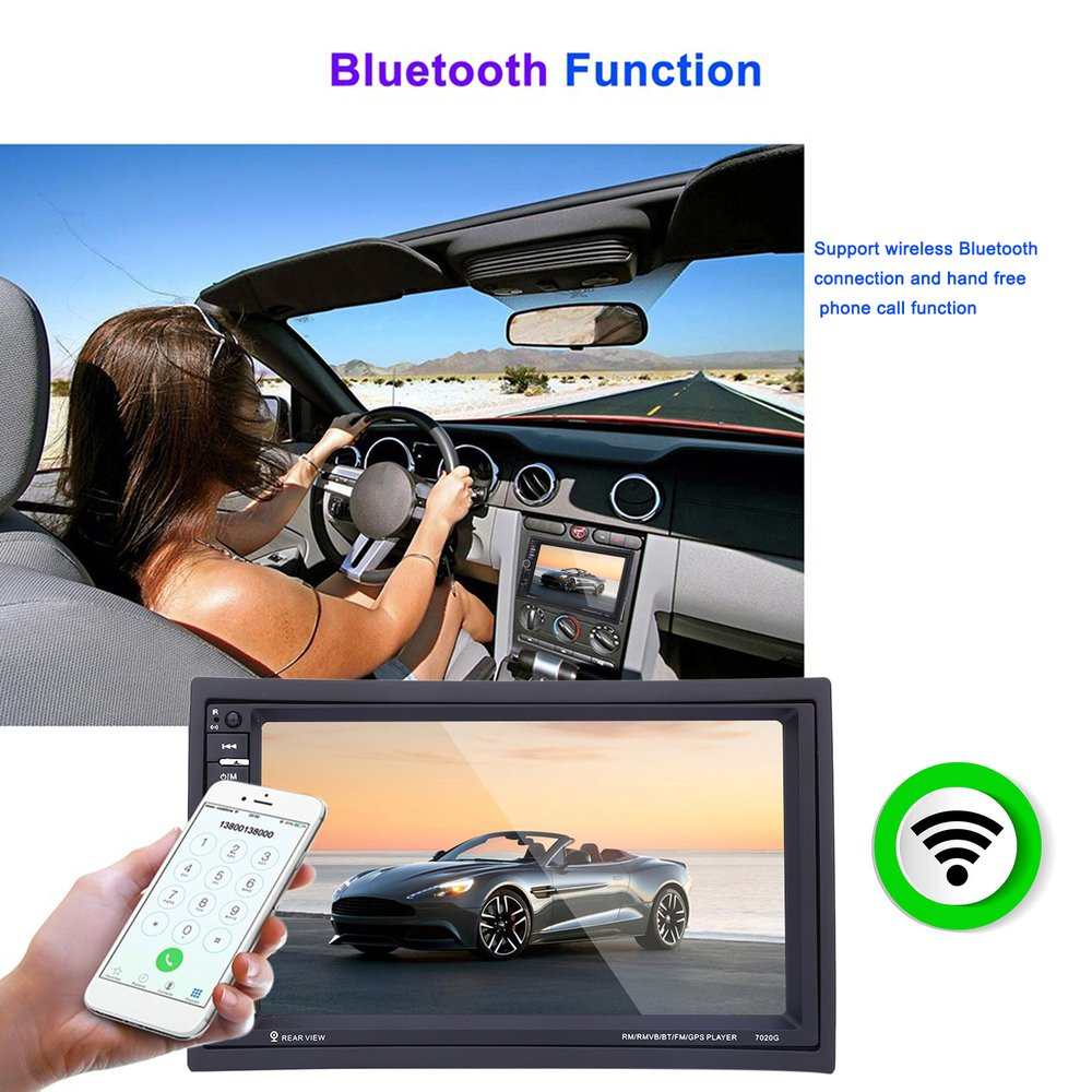 7 car radio mp5 player 1208 1080 digital hd touch screen 2 din bluetooth gps navigation with rear view camera mutimedia player in car multimedia player  [ 1000 x 1000 Pixel ]