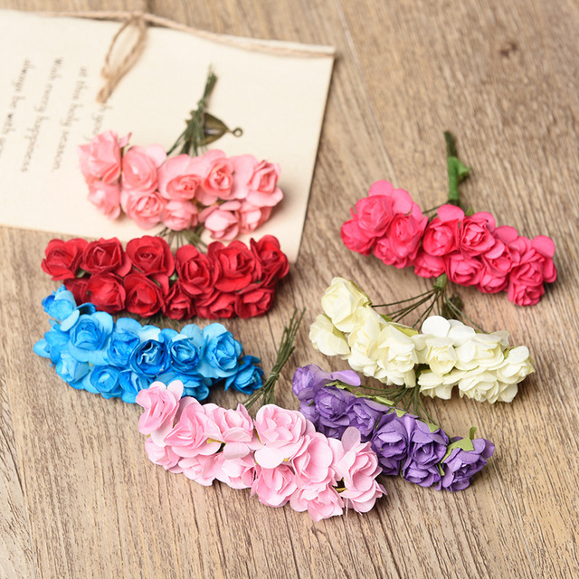 144pcslot 7cm multicolor artificial paper flowers rose used for 144pcslot 7cm multicolor artificial paper flowers rose used for bouquet scrapbooking wedding party rose mightylinksfo
