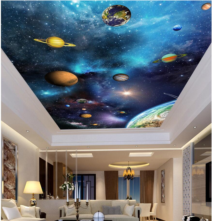 3d ceiling murals wall paper picture Gorgeous sky star decor painting photo 3d wall murals wallpaper for living room walls 3 d custom photo 3d wall murals wallpaper mountain waterfalls water decor painting picture wallpapers for walls 3 d living room