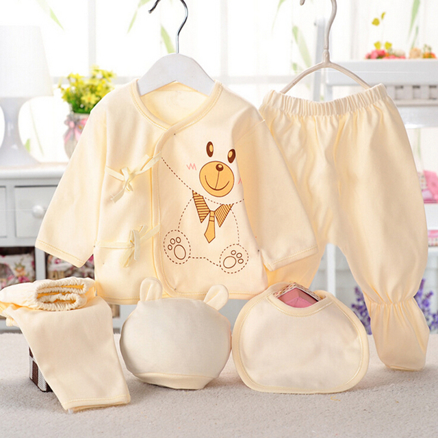 Newborn baby suits pure cotton ( 5pcs/set)  baby fashion underwear 15 colors sets Infant unisex suit 3