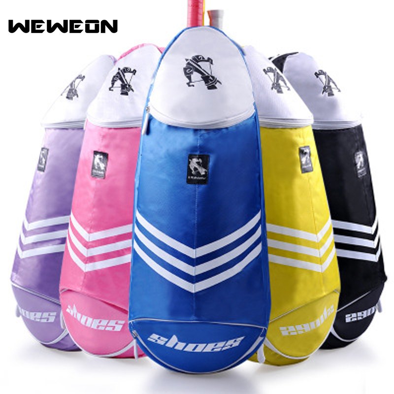 2018 Brand New Authentic Badminton Bag Shoulder Bag Streamlined Badminton Racket Bag Tennis Racket Bag