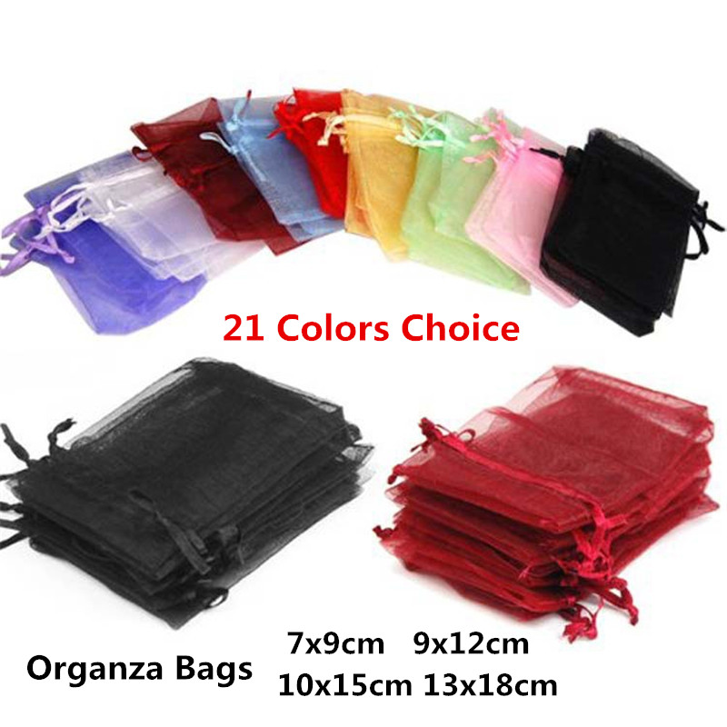 10pcs Gift Bags Organza Bags Birthday Decorations Kids 7x9 9x12 10x15 13x18  Wedding Favors And Gift Bags Wedding Party Supplies