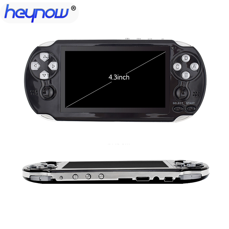 16GB Handheld Video Game Console HD 4.3 inch Built-in 3000 Classic Games 64Bit Multimedia Video Console Player MP5