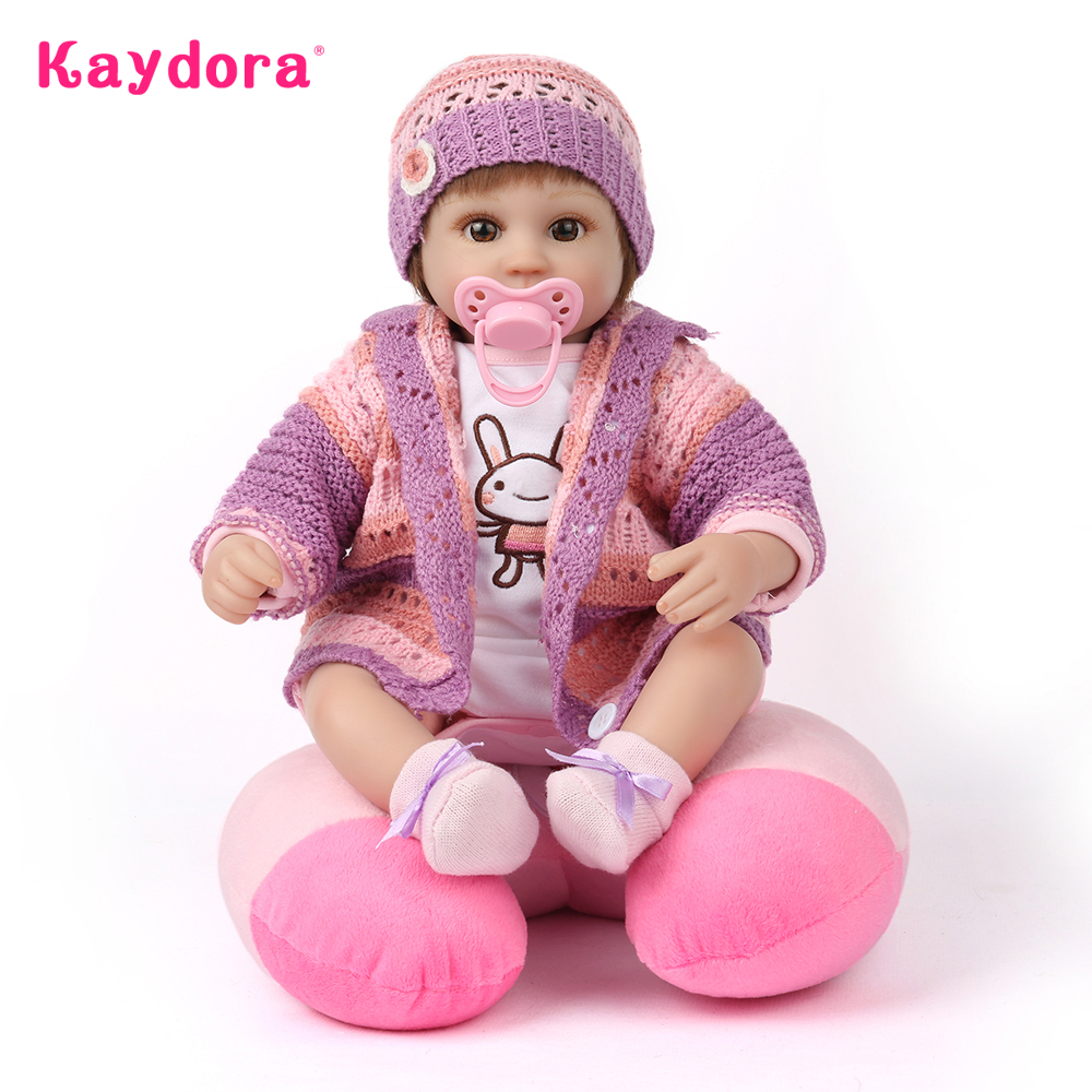 Kaydora 42cm 16 inch Vinyl Silicone Reborn Baby Doll Lifelike Handmade bebe Reborn Babies Adorable Toys Girls Princess Doll Gift npk doll reborn baby 22 55cm silicone vinyl handmade adorable lifelike dolls for girls toys birthday gift princess wholesale