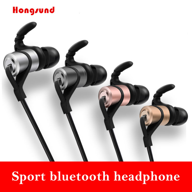 Hongsund HD9 Sports Wireless Bluetooth Earphone Anti-sweat Metal Headset Earbuds Earphones with Mic In-Ear for iPhone SmartPhone