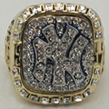 Wholesale 1999  New York Yankees Major League Baseball Zinc Alloy 24K gold plated Custom Sports Replica men Championship Ring