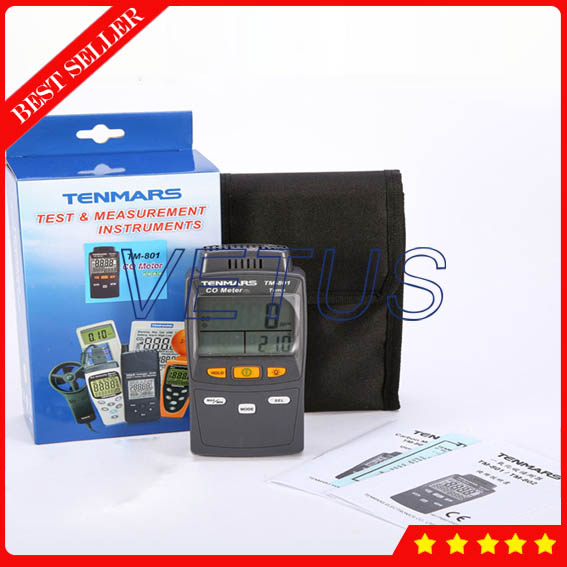 TM801 0-1,000ppm 4 digits Portable Carbon Monoxide Detector with Dual display CO Gas Tester Analyzer Digital Temperature Meter