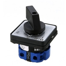 1pc Universal Rotary Selector Cam Changeover Switch 3 Position AC 500V 20A On-Off-On Changeover Switches With Screws Mayitr ac 240v 440v on off 2 position 35mm din rail rotary cam changeover switch szd11 25