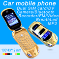 Newmind F15 Flip unlocked mp3 mp4 FM flashlight dual sim cards super small cell car model mini mobile cell phone P431