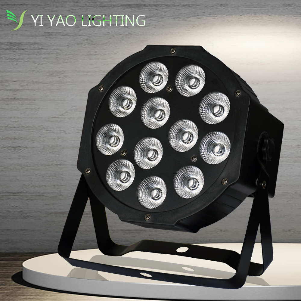 12X12W 4 In 1 RGBW LED Stage PAR Lights Effect Lighting DMX-512 Sound Actived Professional 8 Channel Party Disco Show