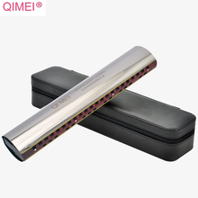 Qimei Alto Soprano Horn Harmonica Key C Horn Tone Wood Comb Brass Reeds Harp Qimei Mouth Organ Professional Musical Instruments