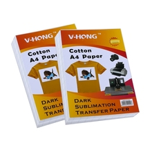 can be transferred A4 size heat transfer sublimation paper on pure cotton T-shirt
