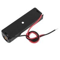 1 Pcs Einzigen Seite 1x1,5 V AA Batterie Öffnen Halter Lagerung Fall Box Draht Führt 15cm Lange