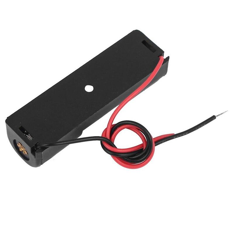 1 pièces simple face 1x1.5 V AA batterie support ouvert boîtier de rangement fils de 15cm de Long