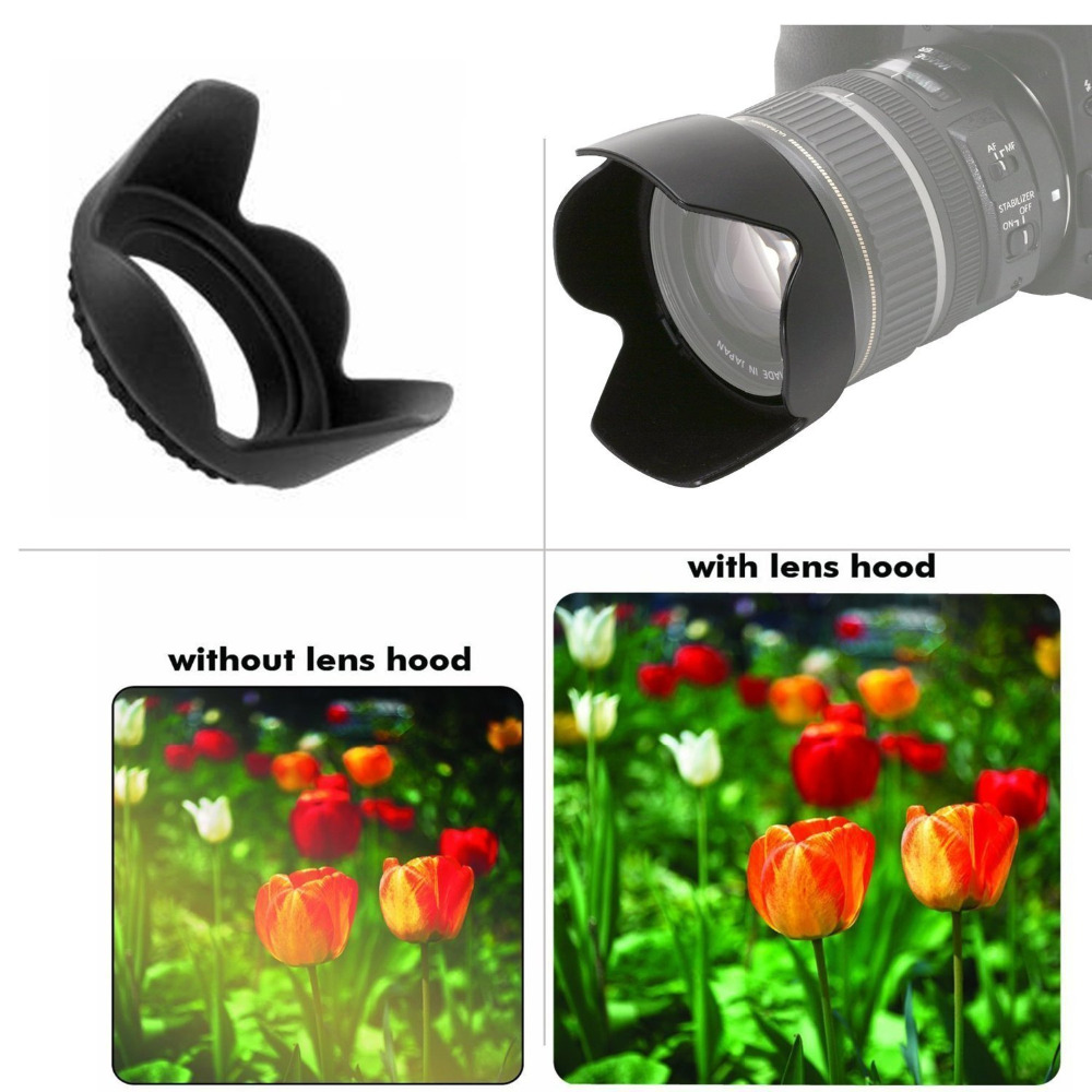 55mm Flower Design for Pentax K-500 Pro Digital Lens Hood
