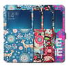 High Quality Window View Card Slot Flip Stand PU Leather Painting Cover For Xiaomi Redmi Note