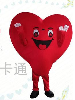 High Quality Red Heart Love Mascot Costume LOVE Heart Mascot Cosplay Costume Free Shipping Can Add Logo Halloween Dress
