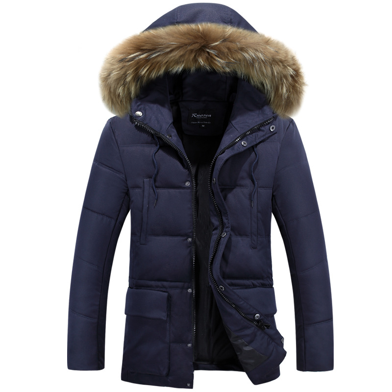 Winter New Brand Men's Cotton Jacket Casual Solid Turn-dwon Collar Parka Winter Jacket Men Overcoat Outerwear M-3XL