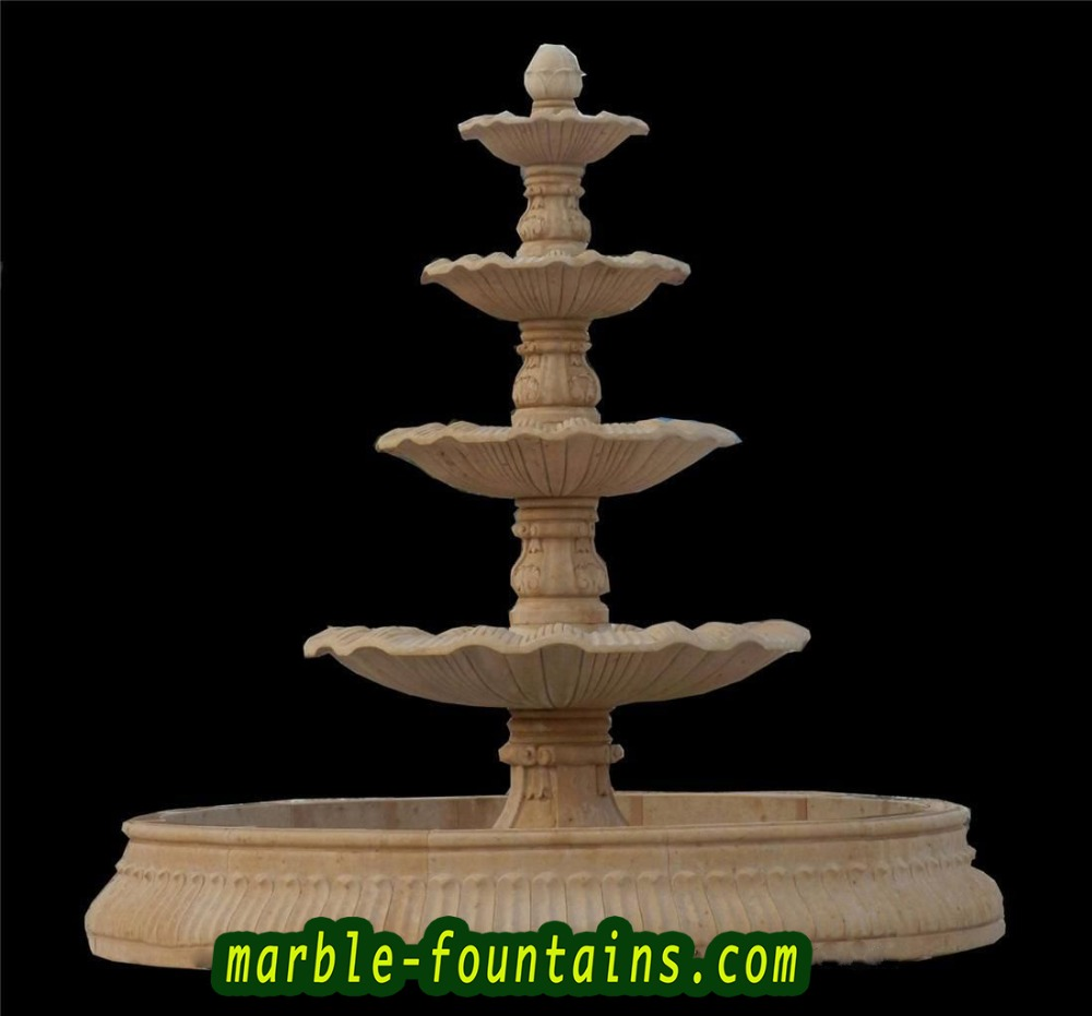 outdoor water fountains natural stone backyard fountain four tier