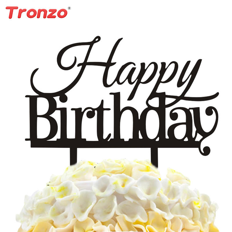 Tronzo Happy Birthday Cake Topper acrilico Cake Toppers Decorazioni - Per vacanze e feste