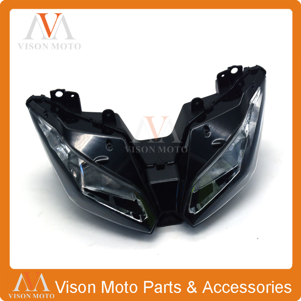 Motorcycle Front Light Headlight Head Lamp For KAWASAKI NINJA300 EX300 NINJA EX 300 2013 2014 2015 13 14 15 for kawasaki motorcycle chain adjuster tensioner autobike chain regulator ninja300 ninja 300 2013 2015 2016 2014