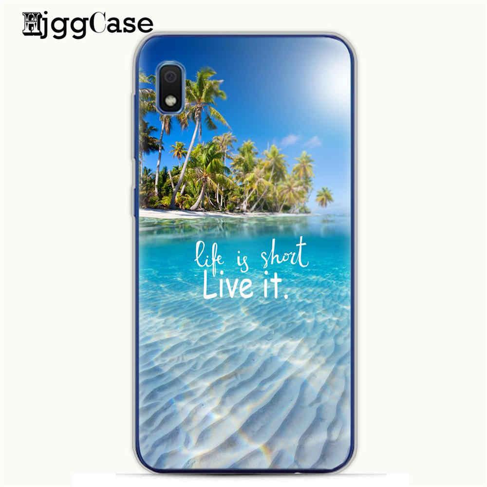 Đối Với Samsung Galaxy A50 Trường Hợp Mùa Hè Bãi Biển Đại Dương Đại Dương Bầu Trời Mặt Trời Mềm TPU Cover Quay Lại Đối Với Samsung A10 A30 30 10 MỘT 50 A505 Điện Thoại Trường Hợp