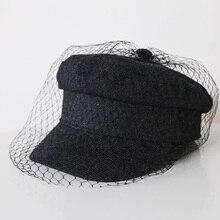 MAXSITI U новая джинсовая хлопковая кружевная вуаль newsboy шапки Fmale модные шляпы