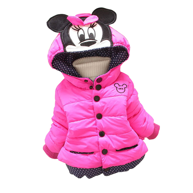 91d54b19022e 2018 Minnie Girls Jacket Children Cotton Casual Hooded Thick ...
