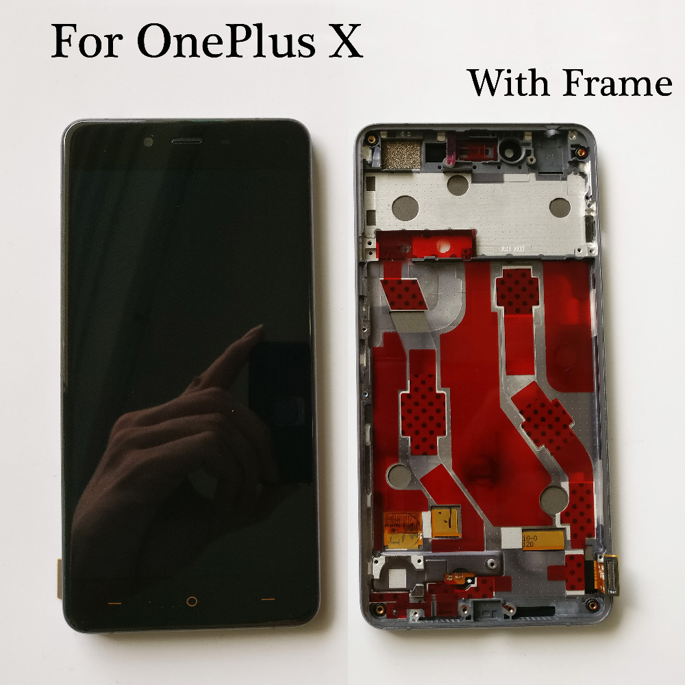 Image 2 - Black/White 5.0 inch NEW For OnePlus X E1001 E1003 LCD Display    Touch Screen Glass Digitizer Assembly Replacement With FrameMobile  Phone LCD Screens