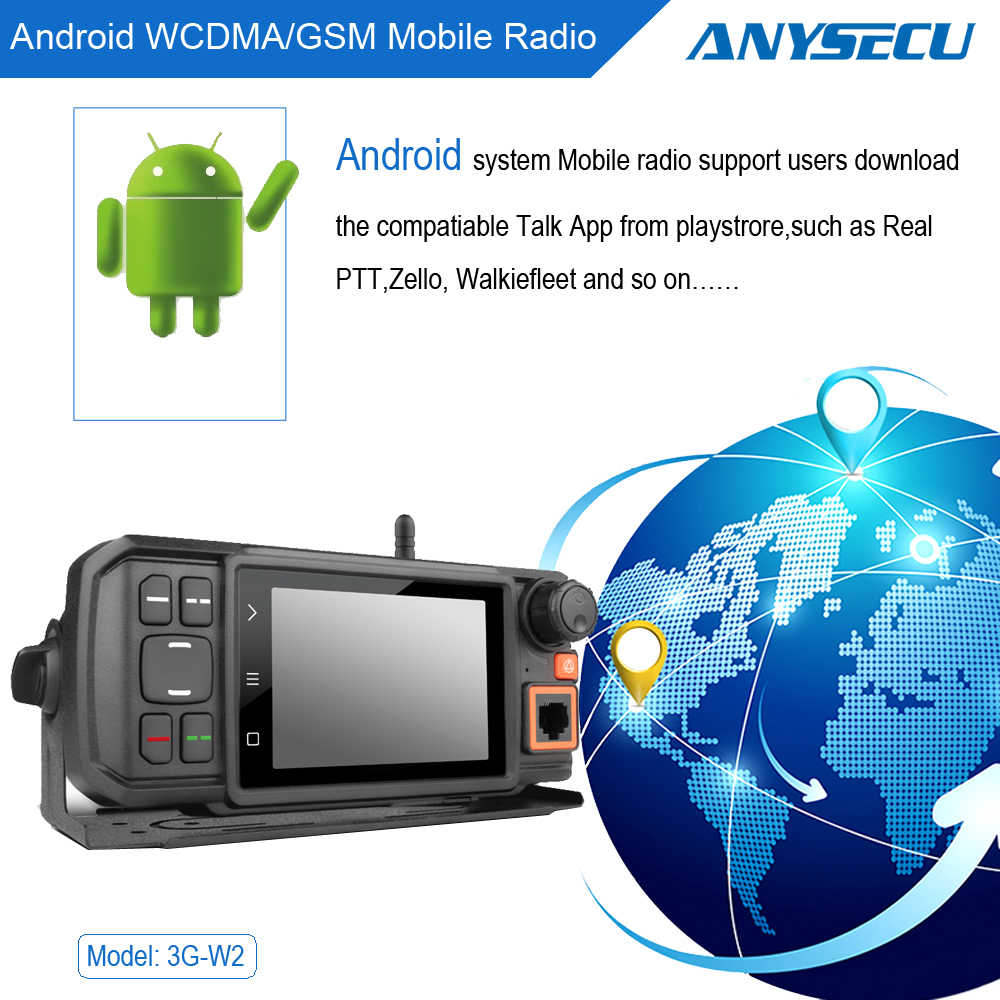 3G Car Radio 3G-W2 WCDMA GSM with WIFI GPS Function work with Real-ptt or  Zello platform W2 Android System