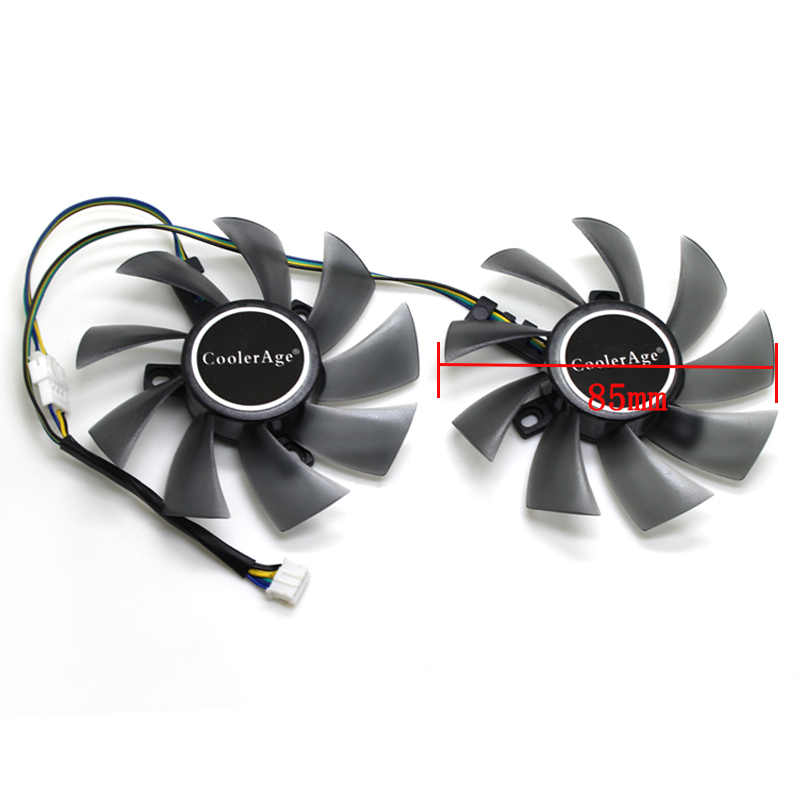 CoolerAge NEW 85MM Cooling Fan DC12V 4Pin For MSI SAPPHIRE EVGA RX 460/550/560,MSI GTX 1060 3G Graphics Card Cooler Fans image