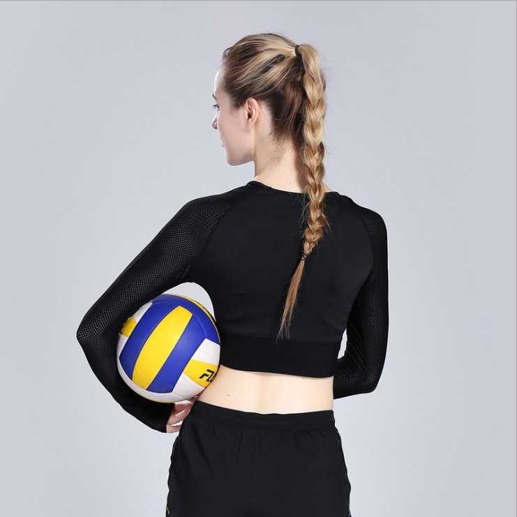 Long Sleeve Yoga Tops Women Breathable Yoga Shirt Fitness Gym Quick-Dry Running Training Short Style Undershirt Shirt