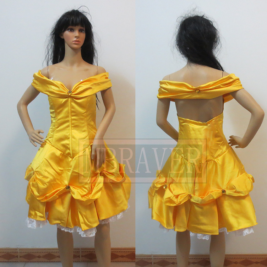 Beauty and the Beast Belle Cosplay costume Belle Dress