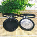 30pcs/lot Empty Blusher Mirror Case, Round 58.5mm Eyeshadow Makeup Case with Mirror, Matte Black Lip Gloss Pressed Powder Case