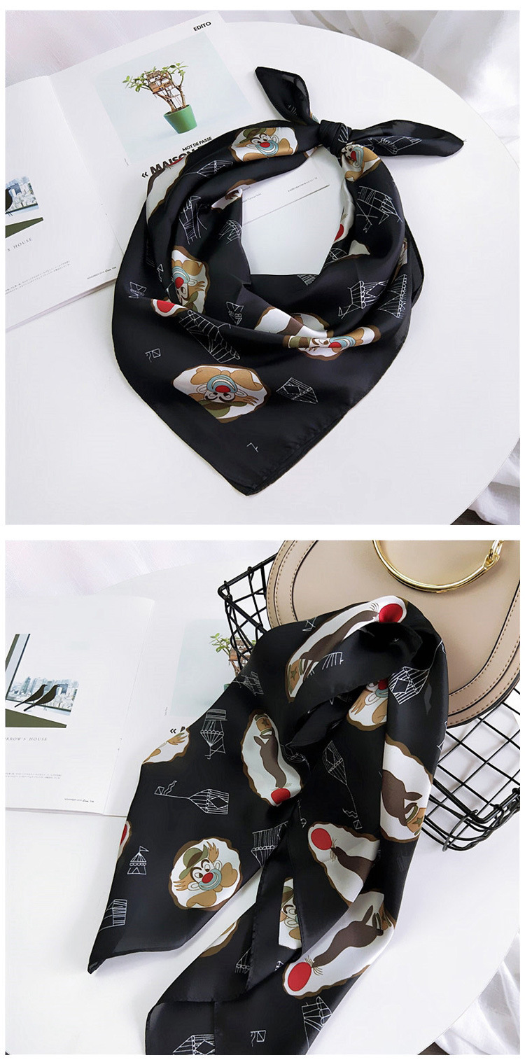 HTB1ZCYTLwHqK1RjSZFPq6AwapXaQ - 70*70cm Fashion Kerchief Cartoon Scarf For Women Animal Print Hair Scarf Female Square Neckerchief Cute Headband Scarves