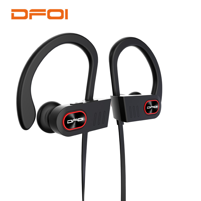 цена на DFOI Waterproof Headphone IPX4 Wireless Bluetooth Headphones Wireless Sport Earphones Headset With Microphone For phone Earphone
