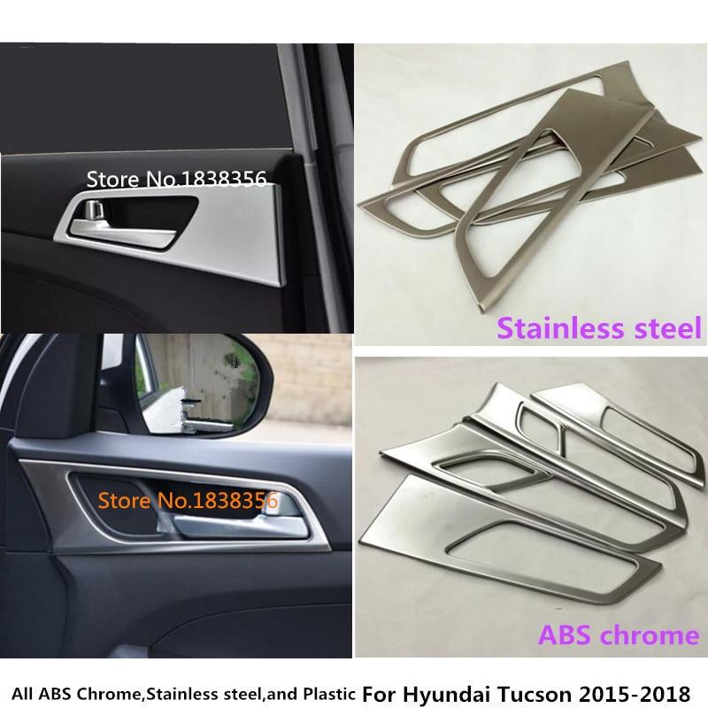 Лидер продаж для hyundai Tucson 2015 2016 2017 2018 укладка защиты детектора палочки отделка Литье двери автомобиля внутренней построен ручки чаши 4 шт.