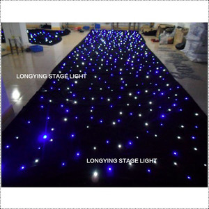 Image 3 - Free Shipping 4m*6m Blue / White LED Star Curtain LED Starry Sky Theater Curtain Wedding Backdrop Decoration For Events