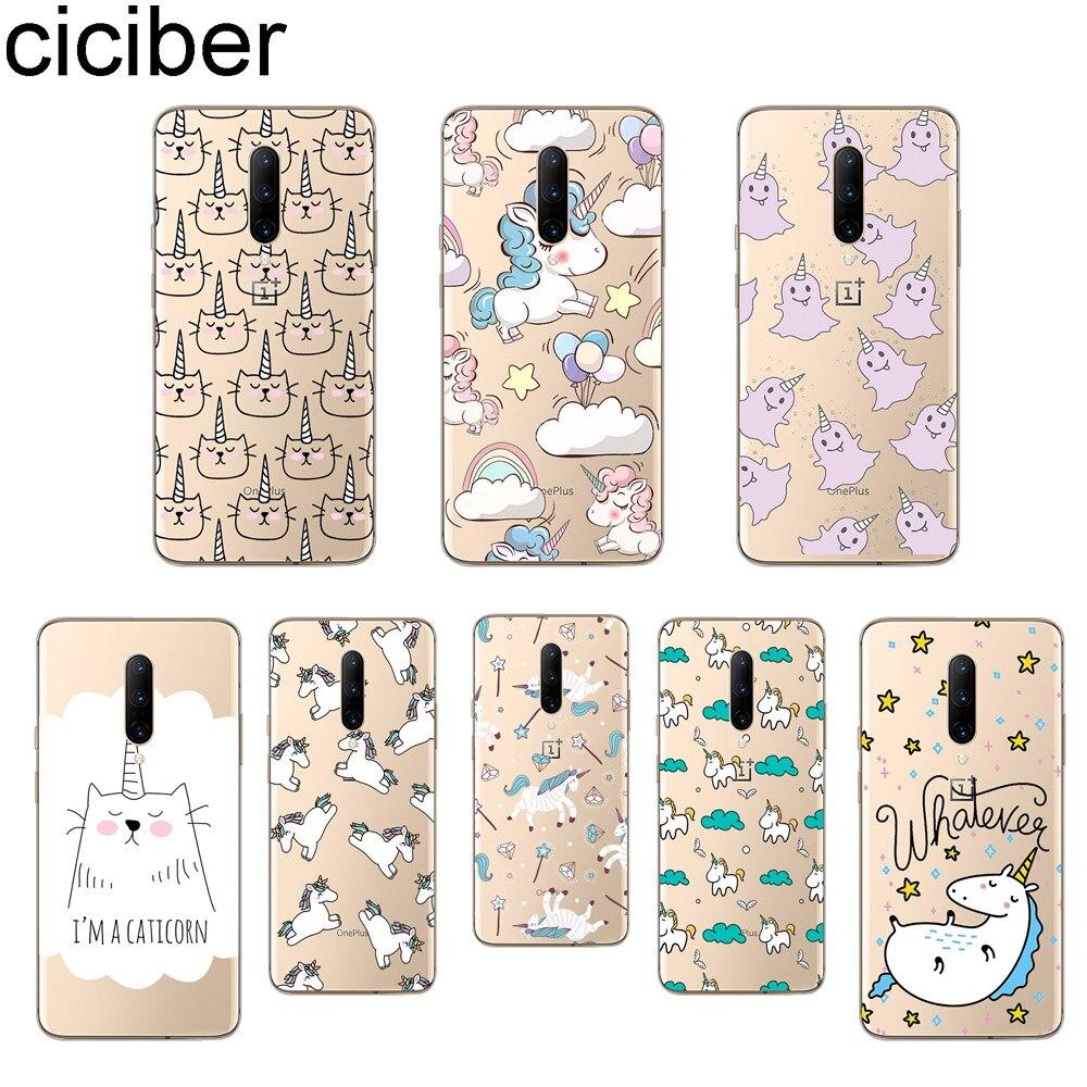 ciciber Cartoon Unicorn Phone Case For font b Oneplus b font font b 7 b font