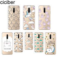 ciciber Cartoon Unicorn Phone Case For Oneplus 7 Pro 1+7 Pro Soft TPU Cover for Xiaomi 9 Coque For Redmi Note 7 6 Pro Fundas
