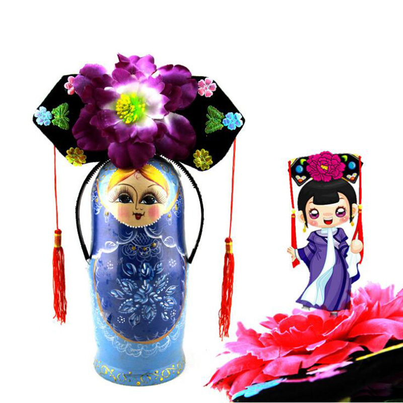 10Pcs/lot Chinese Ancient Qing Court Princess Hat Show Party Cosplay Hat Toys