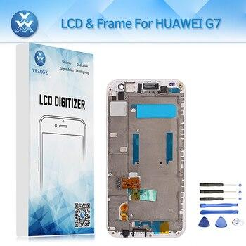 Comprar ahora Pantalla LCD con Marcos para Huawei Ascend G7 pantalla ...