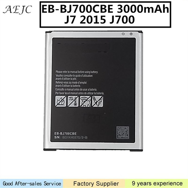 Para Samsung Bateria 3000 mah Bateria Para Samsung Galaxy J7 EB-BJ700CBE J700 2015 J700 J700F J700M J700H J7008 SM-J7008 Baterias