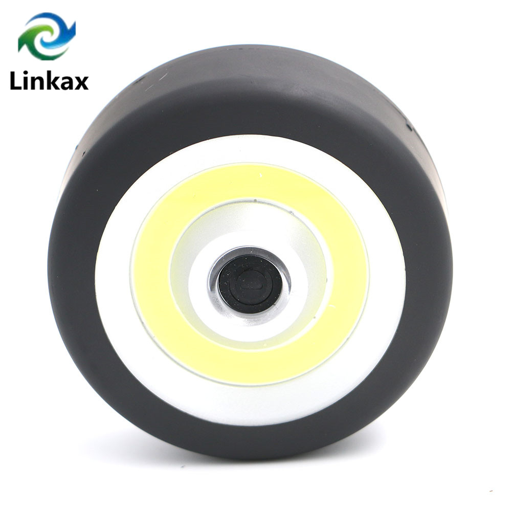 Mini COB LED Flashlight Round Pocket LED Flash Light Lamp Camping Torch Lighting Hanging Magnetic AA Torch Free Shipping