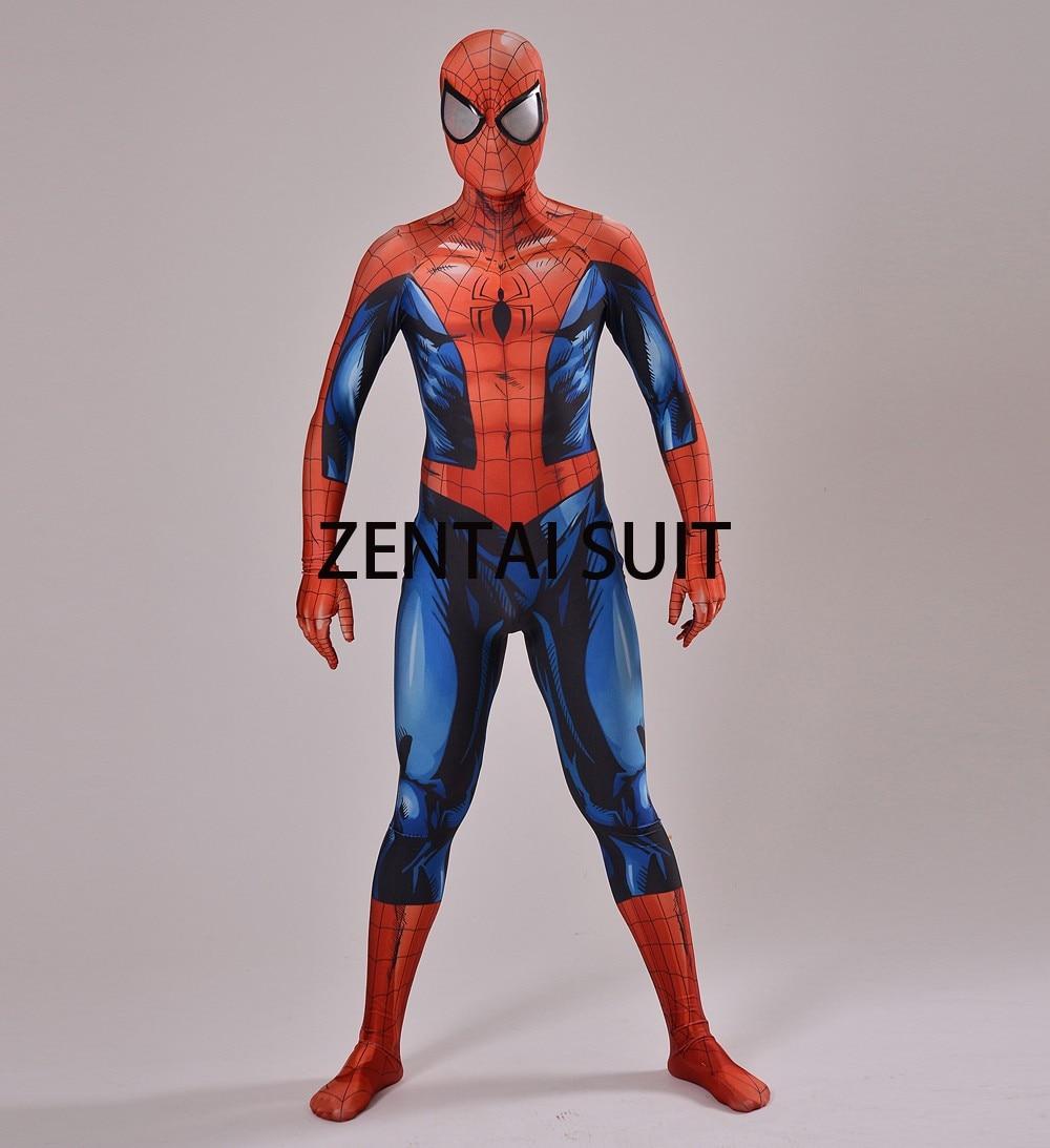2016 Nuevo Último Traje de Spiderman Spandex Sombra 3D Traje de - Disfraces - foto 3