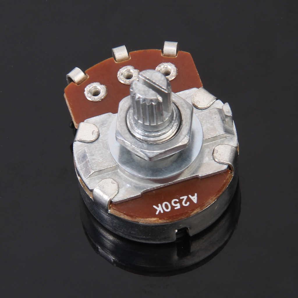 Pot de contrôle 250K-ohm potentiomètre de guitare à arbre divisé Volume de guitare pour remplacement/mise à niveau des contrôles de Volume et de tonalité